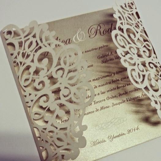 invitación corte laser papelerie