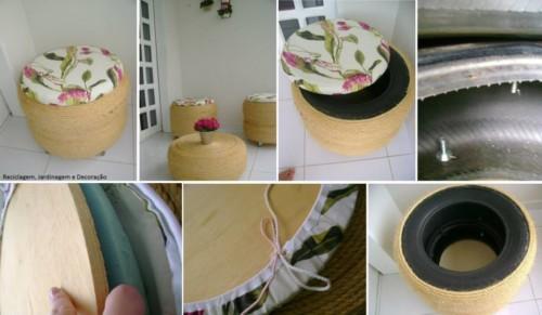 como hacer mobiliario paso a paso con llantas o neumaticos usados imagenes de tutoriales para el ruso de materiales reciclables