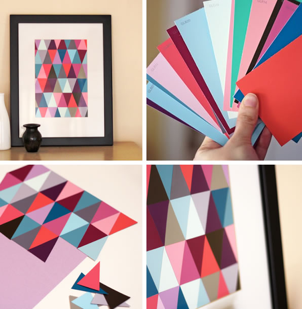30 manualidades originales con papel muy bonitas ideas - Papel para pared con gotele ...