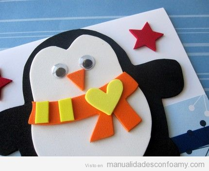 manualidades-niños-goma-eva-navidad-pinguinos-3
