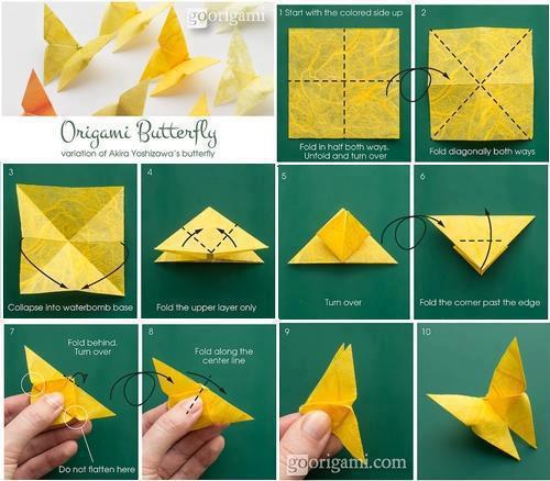 mariposas de papel paso a paso origami