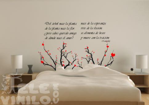 Ideas para hacer vinilos decorativos con frases originales for Vinilos para pared habitacion matrimonio