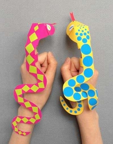 vboras de papel para jugar como si fueran tteres