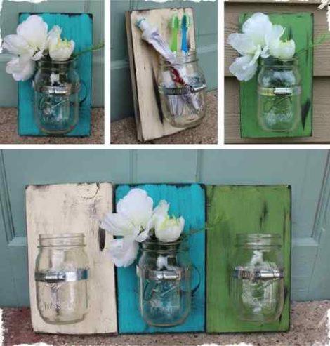 Ideas de c mo reutilizar envases de vidrio imagenes de for Ideas con frascos de vidrio