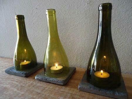 vidrioportavelas-reciclados-con-botellas-de-vidrio