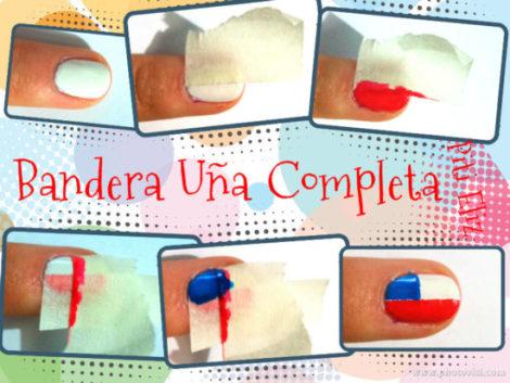 tutoDIY dieciochero Bandera uña Completa