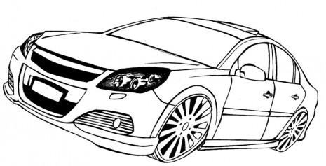 desenho de carro tuning carros para colorir