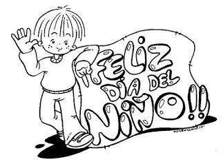 Imágenes Día Del Niño Con Mensajes Para Colorear