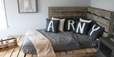 Ideas originales para hacer muebles de dormitorio con Palets reciclados