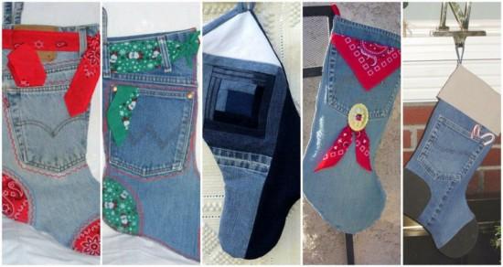 Calcetines-navideños-con-jeans-reciclados-1