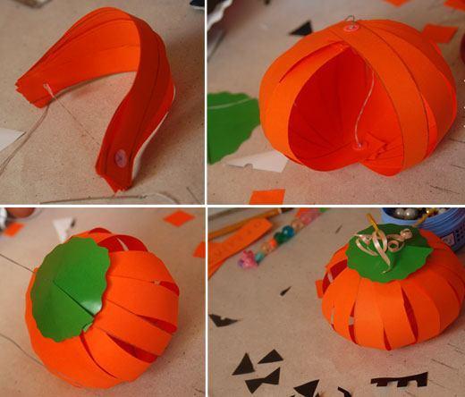 Manualidades para ni os de halloween faciles - Como hacer calabazas de halloween ...
