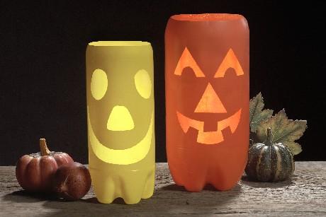 crear-adornos-halloween-con-botellas-plastico