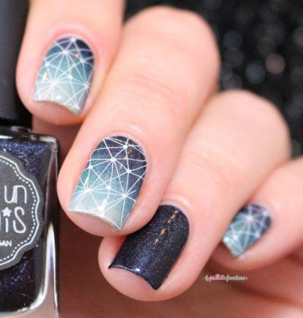 Ideas de uñas esculpidas colores y diseños de invierno