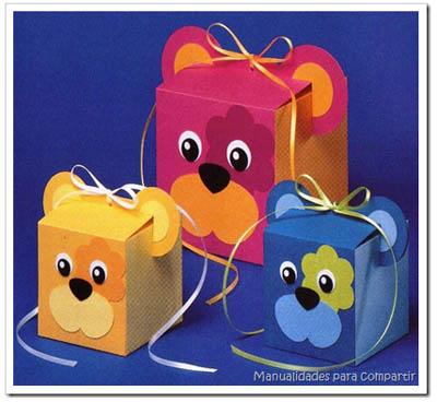 souvenirs cajas con forma de ositos