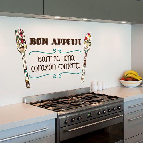 Ideas para hacer vinilos decorativos con frases originales - Murales para cocinas ...