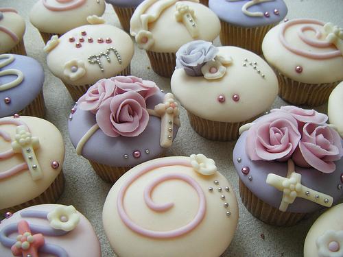 Cupcakes-Primera-Comunion-con-Flores
