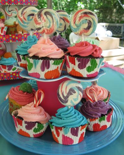 Cupcakes con caramelos 1