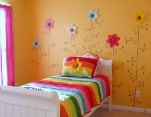 habitacion-infantil-flores