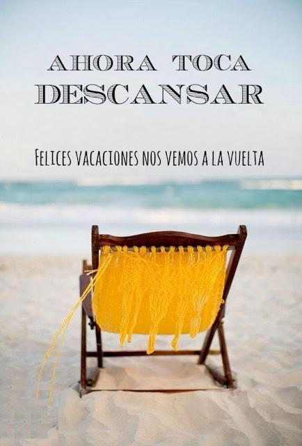 Tarjetas y palabras de felices vacaciones con imagenes