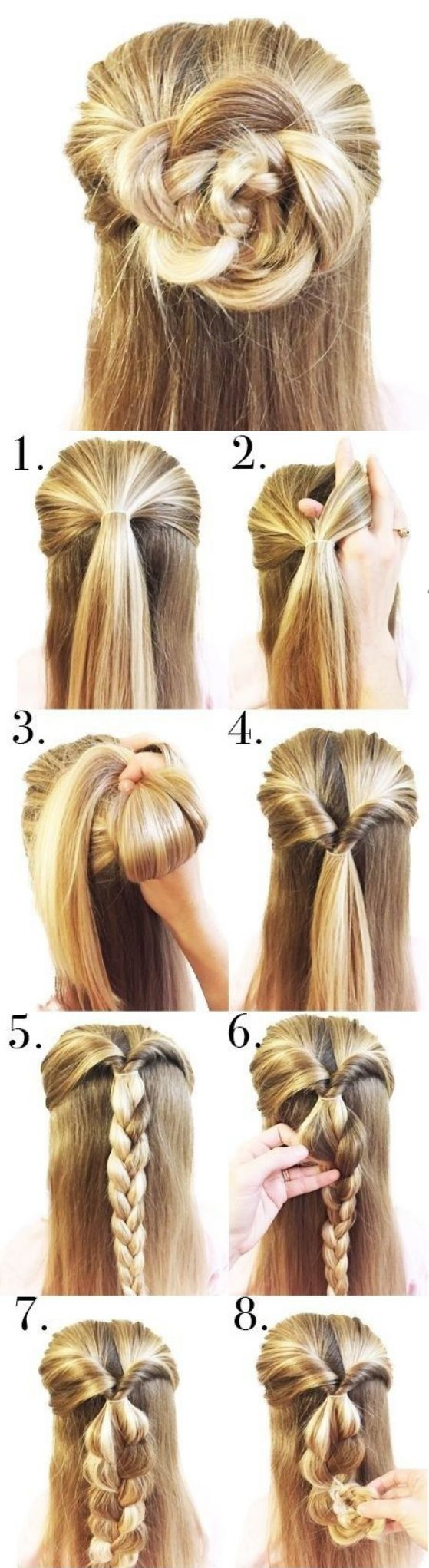 Sensacional peinados faciles de hacer Fotos de tendencias de color de pelo - 100 peinados sencillos para mujeres y chicas ocupadas