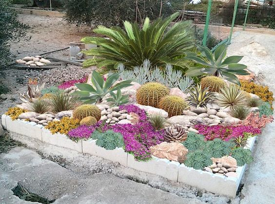 hermosos diseños de patio con jardín 45 Ideas De Jardines Con Rocallas En Imgenes