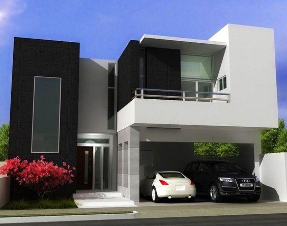Fachadas de casas im genes ideas y dise os modernos for Casa moderna bella faccia