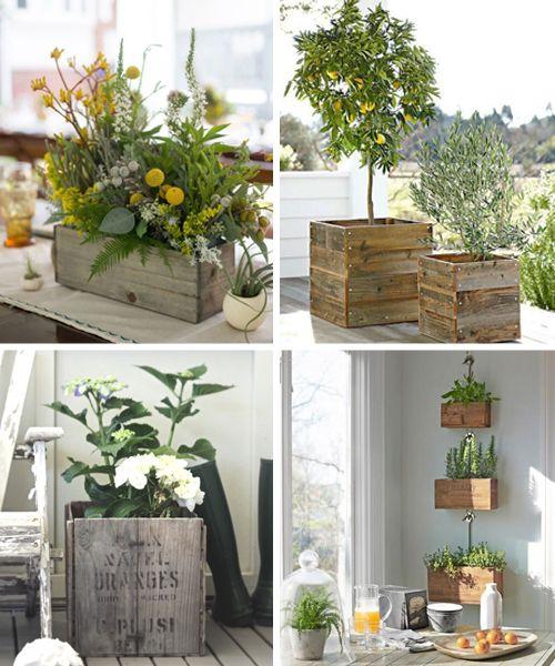 Macetas recicladas decoraci n ideas y dise os - Jardineras con palets de madera ...