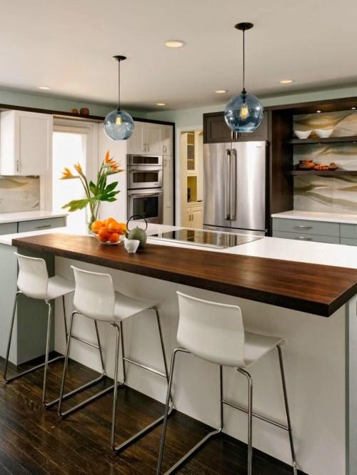 Ideas increibles en cocinas modernas (120 imágenes, diseños ...