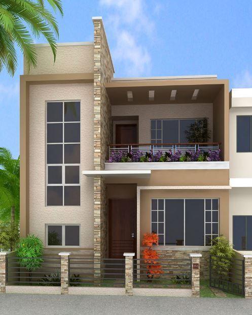 Fachadas de casas peque as y modernas que te inspiraran for Piedras para fachadas minimalistas