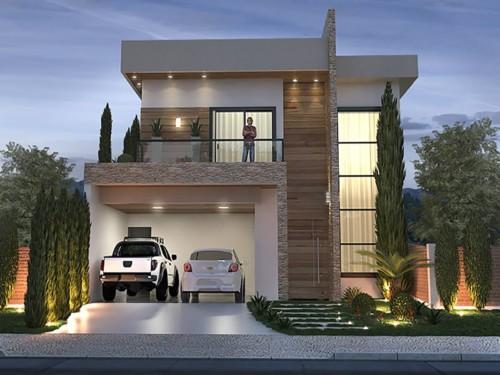 Fachadas de casas peque as y modernas que te inspiraran for Colores de casas minimalistas