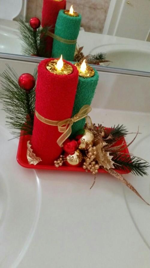 Ideas en decoraci n de navidad 2018 adornos fotos y for Adornos navidenos con copas y velas