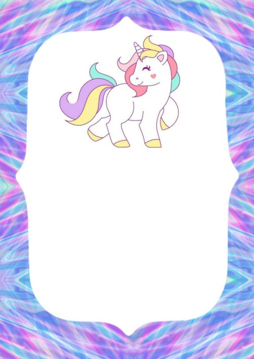 Invitaciones De Unicornio Gratis Para Imprimir Y