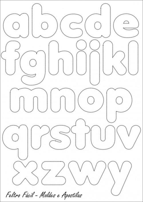 Moldes De Letras Grandes Para Imprimir Minúsculas Mayúsculas A Color Y Decoradas